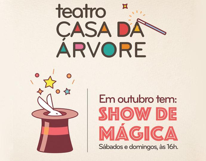 Programação de outubro: Teatro Casa da Árvore do Shopping São José tem shows de mágica aos finais de semana
