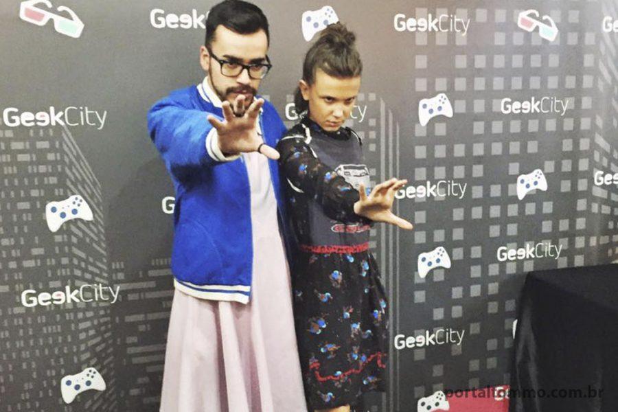 Eleven Curitibana rouba a cena em painel com Millie Bobby Brow no Geek City