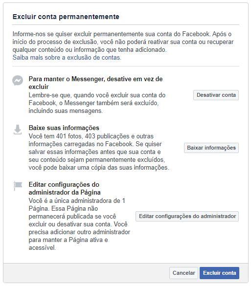 como desativar o facebook pelo pc
