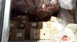 Polícia recupera carga de 11 toneladas de carne na RMC