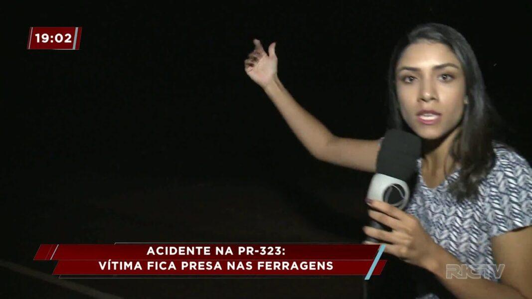 Grave acidente na PR-323 deixa vítimas presas nos veículos