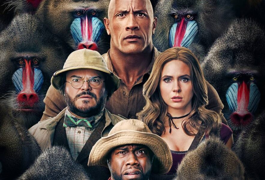 Personagens e babuínos estampam cartaz de 'Jumanji: Próxima Fase'