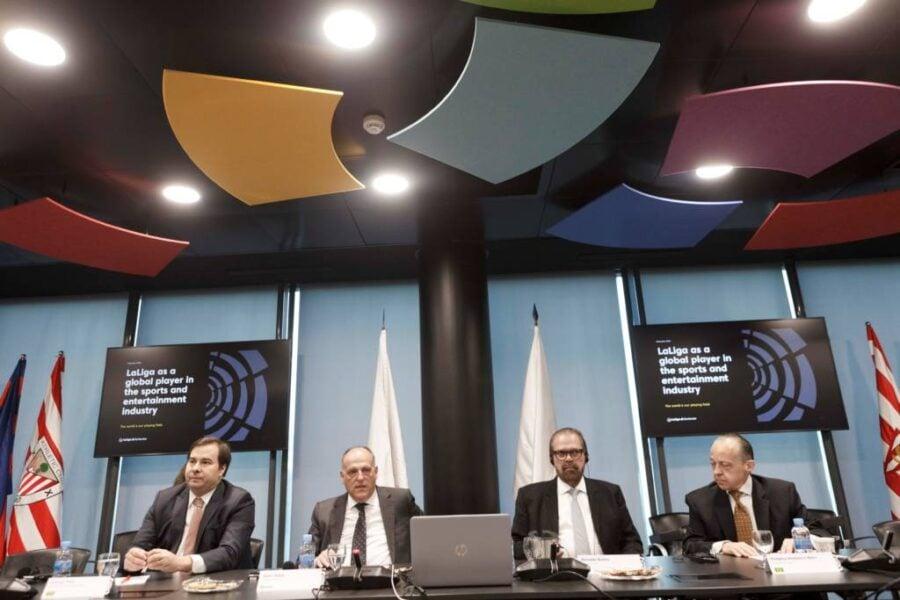 FPF e Rodrigo Maia se encontram com diretores da La Liga na Espanha