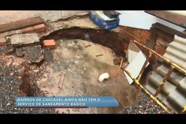 Sete bairros de Cascavel sofrem com a falta de saneamento básico
