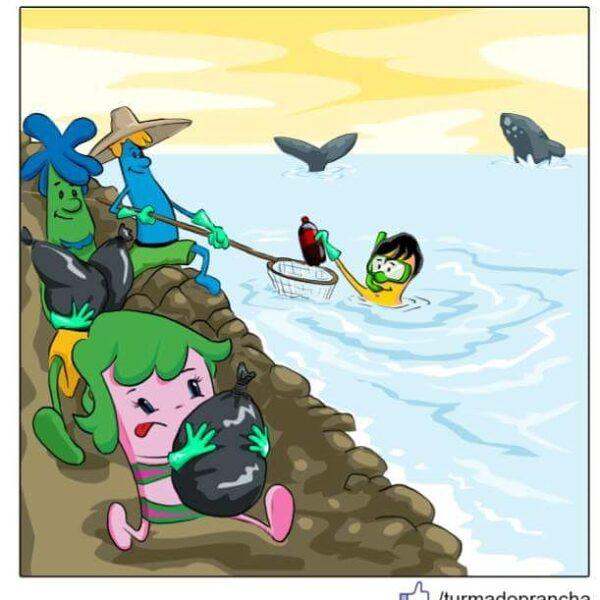 Revista em quadrinhos ensina sobre preservação com pranchas de surf falantes