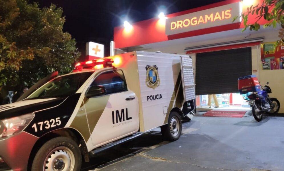 Marginal tenta assaltar farmácia e acaba morto por segurança