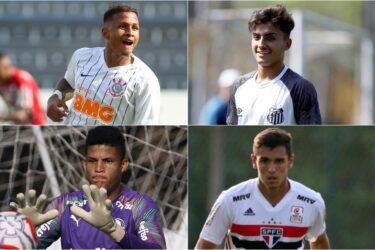 Veja as promessas de Corinthians, Santos, São Paulo e Palmeiras na Copinha