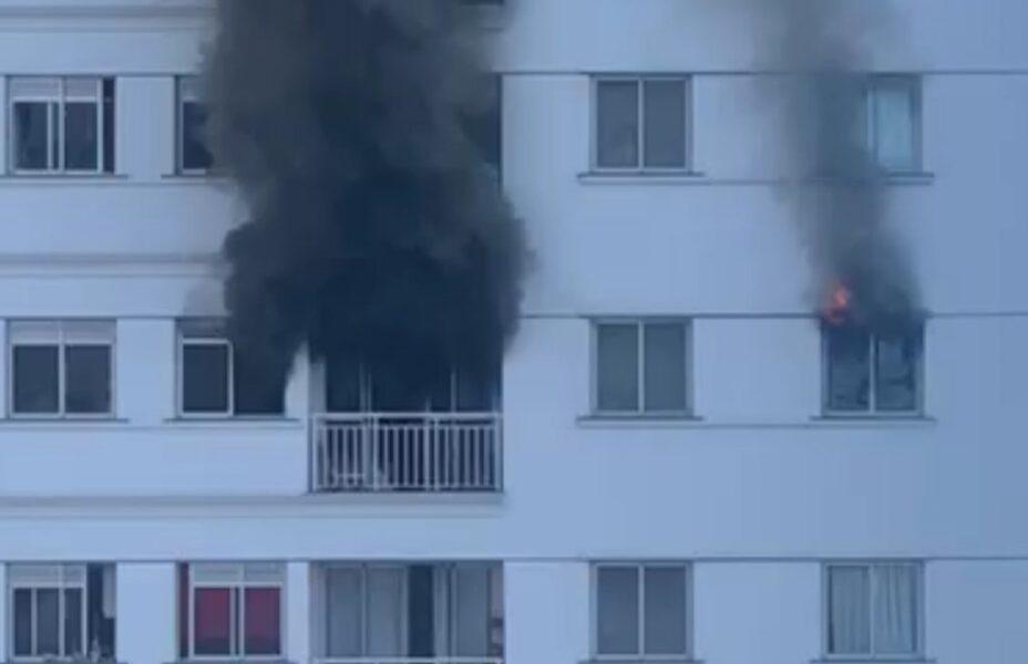 Apartamento é destruído em incêndio na Zona Sul de Londrina, veja o vídeo