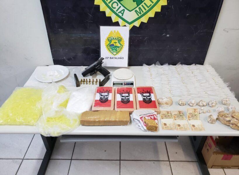 Polícia Militar estoura biqueira de drogas na CIC