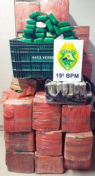 Polícia Militar  e Polícia Civil apreendem 700 kg de maconha no Paraná