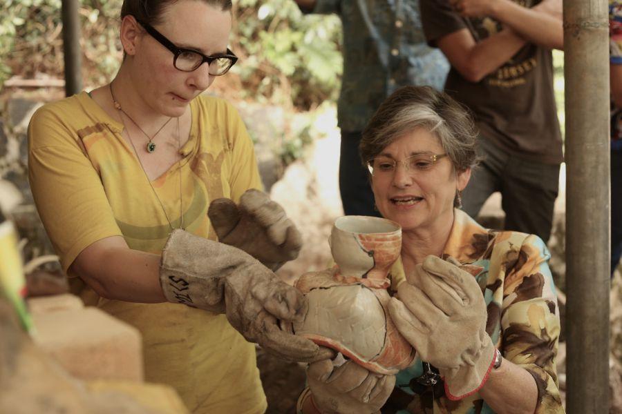 Parque São Lourenço ganha forno para queima de cerâmica