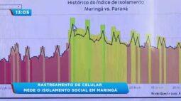Rastreamento de celular mede o isolamento social em Maringá