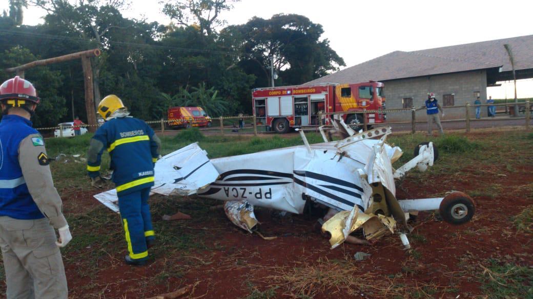Acidente aéreo mata duas pessoas em Toledo, no oeste do Paraná