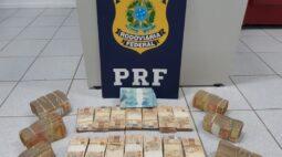 PRF apreende mais de R$ 200 mil em estrada no interior do Paraná