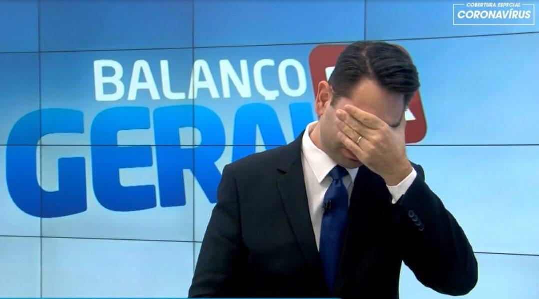 Apresentador do Balanço Geral Curitiba, da RIC Record TV, se emociona ao contar história da mãe durante pandemia do coronavírus