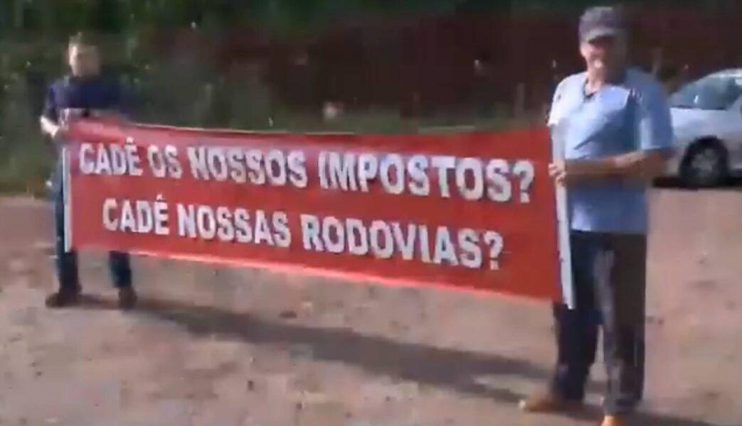 Rodovia de Maringá é alvo de protestos por melhores condições da via
