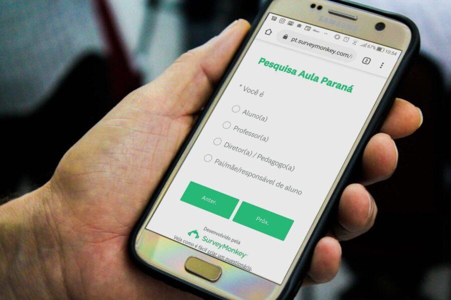 Aulas online: pesquisa vai avaliar ferramentas do Aula Paraná