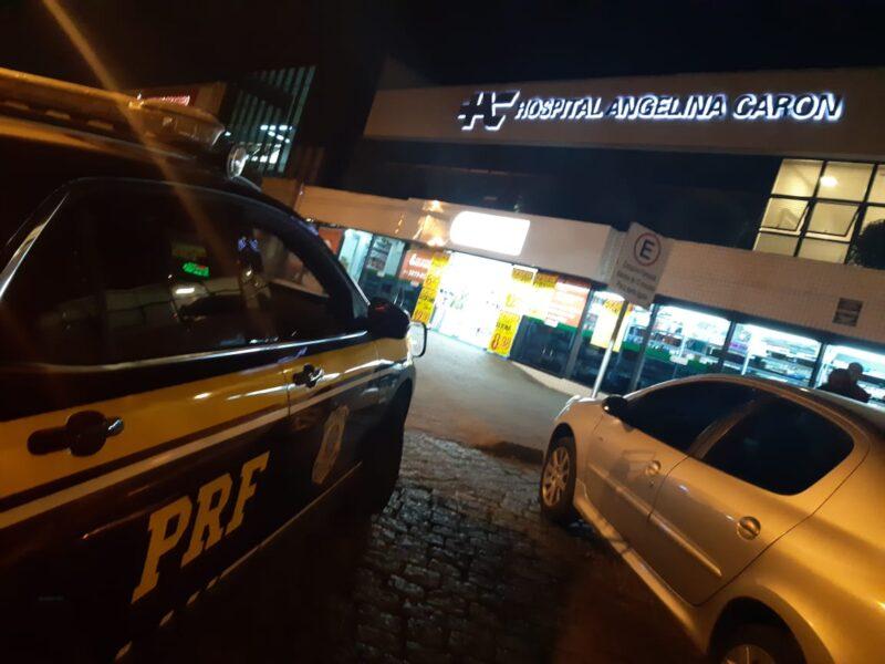 Equipe da PRF salva bebê engasgado após amamentação em Curitiba