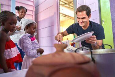 Fundação de Roger Federer doa US$ 1 milhão para nutrição de crianças na África