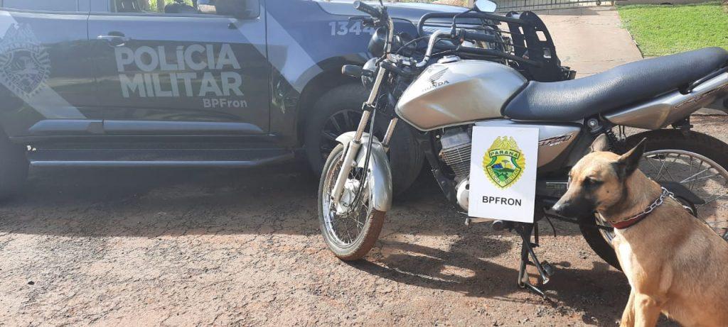 Batalhão de Fronteira recupera motocicleta furtada no dia anterior