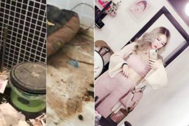 Vida de aparências: mulher mostra casa de blogueira cheia de lixo e fezes