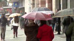 Próxima semana será de frio e chuva em Curitiba; mínima de 7ºC na segunda (21)