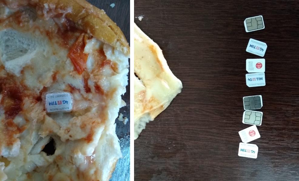 Chips de celulares são encontrados em sanduíche levados para detentos em Piraquara