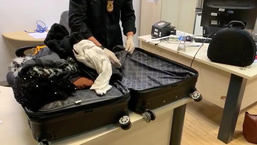 PF prende estudante tentando embarcar com 5 kg de cocaína no aeroporto Afonso Pena