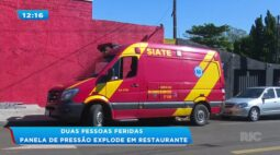 Duas pessoas feridas: panela de pressão explode em restaurante