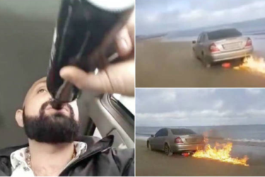 Para se desculpar por traição, homem coloca fogo no próprio carro