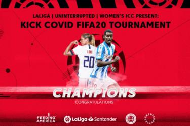 Allie Long e Isak conquistam o torneio Kick Covid Fifa 20, que arrecadou R$ 60 mil