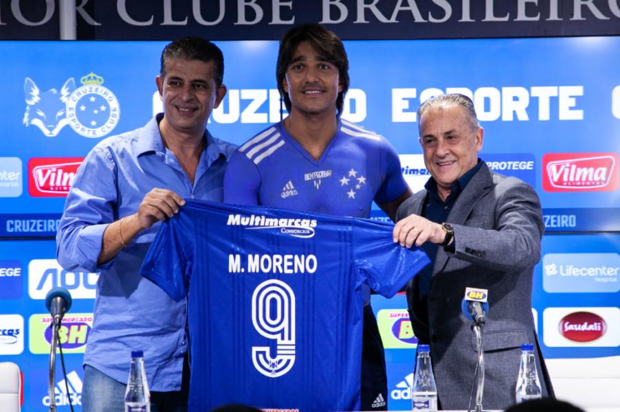 Marcelo Moreno aparece no BID e pode reestrear pelo Cruzeiro