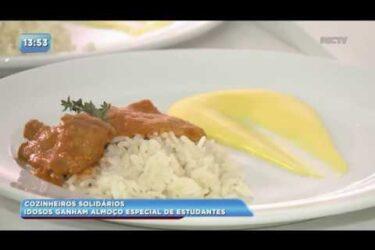 Moradores de asilo ganham almoço especial de estudantes