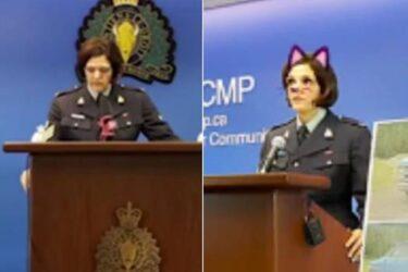 No Facebook, polícia fala com a imprensa sobre homicídio usando filtro de gatinho