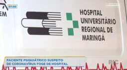 Paciente psiquiátrico suspeito de coronavírus foge de hospital