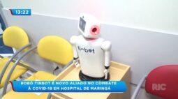 Robô Tinbot é novo aliado no combate à covid 19 em hospital de Maringá
