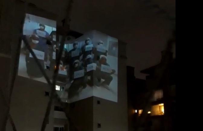 Prefeito Rafael Greca posta vídeo com homenagem aos profissionais da saúde em prédio de Curitiba