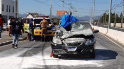 Idoso morre após ser atropelado em acidente na rodovia João Leopoldo Jacomel, em Pinhais