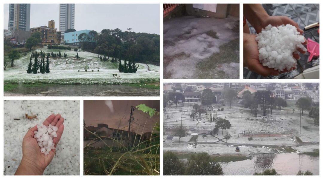 Fortes Chuvas de Granizo no Paraná: galeria de imagens