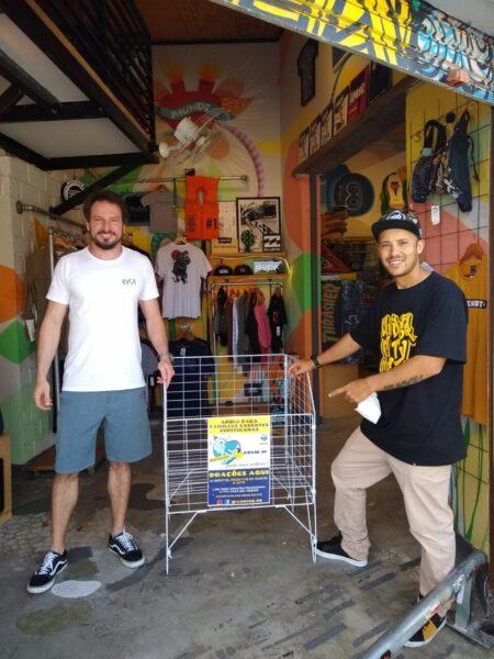 Professor de skate faz campanha de arrecadação de cestas básicas