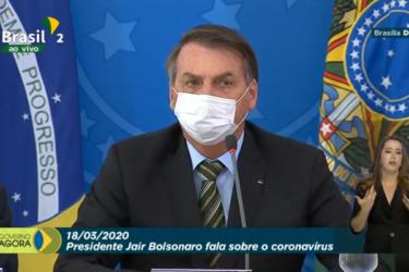 O Presidente Bolsonaro finalmente entrou no combate ao coronavírus