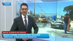 Idoso morre atropelado quando tentava atravessar rodovia em Pinhais