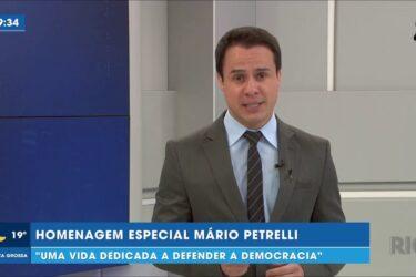 """Homenagem especial Mário Petrelli: """"uma vida dedicada a defender a democracia"""""""
