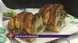 Aprenda a fazer um delicioso pão de alho recheado