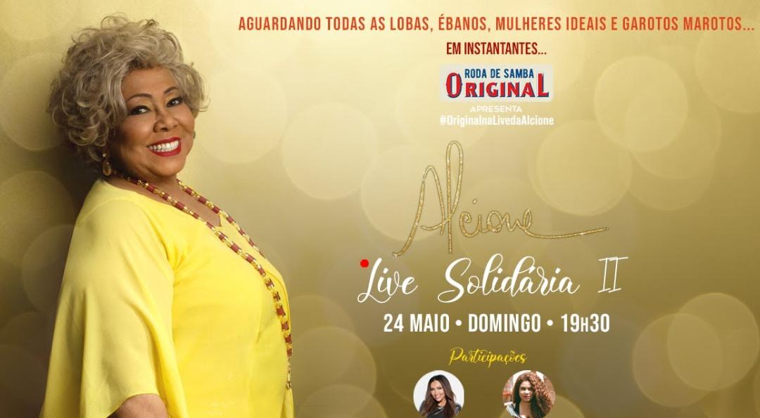 Live Alcione: assista aqui o show online deste domingo (24)