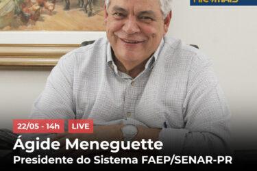 AO VIVO: RIC Mais recebe Ágide Meneguette, em live exclusiva com Sandra Comodaro e Eduardo Scola