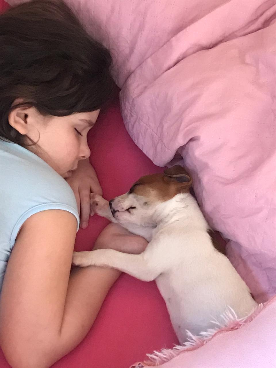 mãe surpreende filha com cachorro