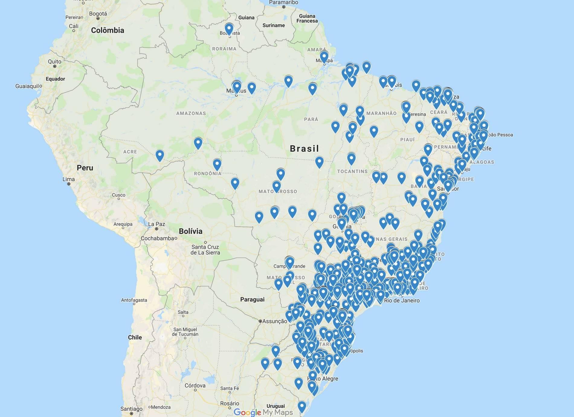 Aplicativo appegada no Brasil