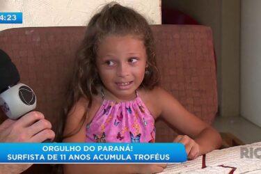 Orgulho do Paraná! Surfista de 11 anos acumula troféus