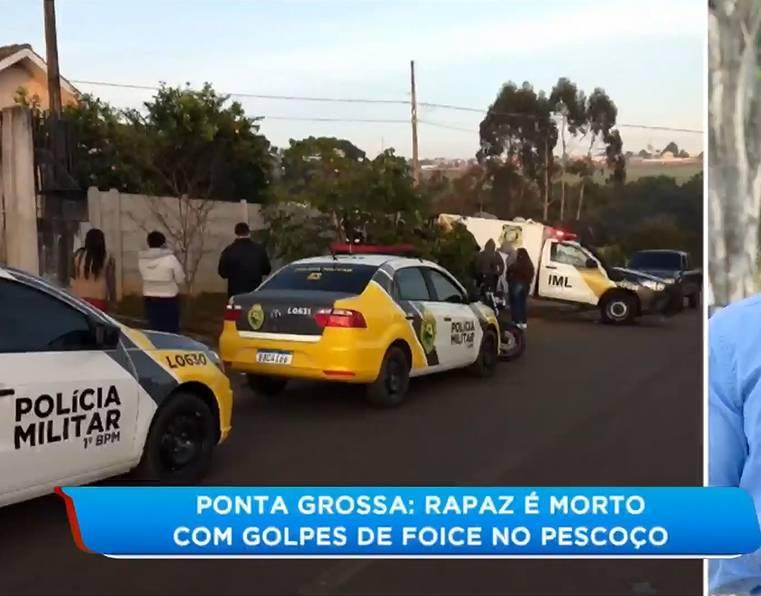 Homem é morto por golpes de foice em Ponta Grossa